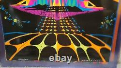 HOUSE OF STONE 1969 VINTAGE BLACKLIGHT POSTER THE THIRD EYE By Michael Rhodes