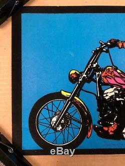 Hopper Finger Original Vintage Poster Dennis Hopper Easy Rider BlackLight 1970