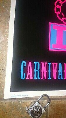ICP Insane Clown Posse Carnival of Carnage Blacklight Poster 2001 Juggalo COC