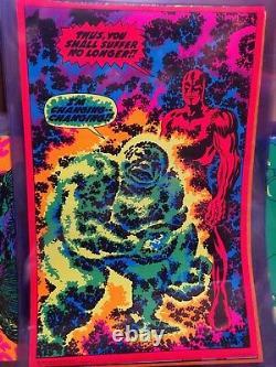 IM Changing Silver Surfer 1971 Vintage Marvel Comics Blacklight Poster Third Eye