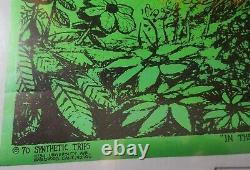 IN THE EVENING 1970 VINTAGE PSYCHEDELIC BLACKLIGHT NOS POSTER By McCully