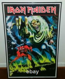 IRON MAIDEN THE NUMBER OF THE BEAST BLACK LIGHT POSTER near mint condition