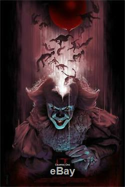 IT Chapter One You'll Float Too Barret Chapman Poster Blacklight 24x36 Mondo