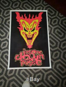 Insane Clown Posse Blacklight Poster ICP PSYCOPATHIC records juggalo coll