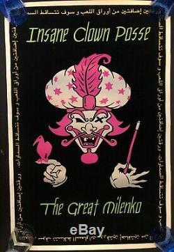 Insane Clown Posse Great Milenko Blacklight Promo Poster Arabic Writing Rare