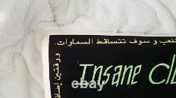 Insane Clown Posse ICP Velvet Blacklight Promo Poster Great Milenko Arabic, Rare