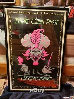 Insane Clown Posse The Great Milenko- Arabic- Blacklight Poster Rare 1997 Icp