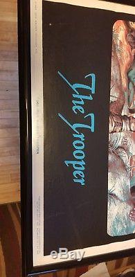 Iron Maiden Blacklight Poster vintage the trooper rare no pin holes in corners