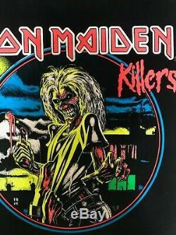 Iron Maiden Killers 816 Vintage NOS Blacklight Poster 23x35 Derek Riggs Rare'88