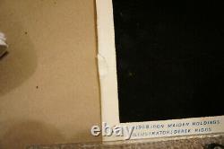 Iron Maiden Killers Felt Black Light Poster #816 1988