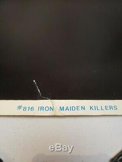 Iron Maiden Killers flocked blacklight poster'88 SUPER RARE ORIGINAL