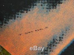 Janis Joplin Vintage Black Light DayGlow Poster Gemini Rising Inc Rolled 1971