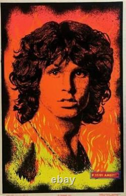 Jim Morrison Rare 1999 Vintage Blacklight Poster 22.5 x 34.5