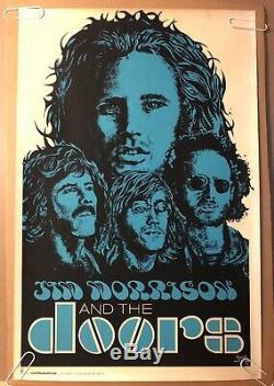 Jim Morrison The Doors Original Vintage Blacklight Poster Beeghly black light