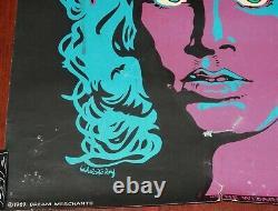 Jim Morrison The Wizard The Doors Vintage 1969 Blacklight Poster RARE Damaged