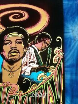 Jimi Hendrix Blacklight Poster, Felt, ©1975 Dynamic, Collector Series No. 2, Rare