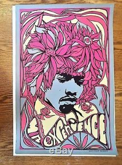 Jimi Hendrix Blacklight Poster Mr Experience Pandora Productions 1967