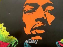 Jimi Hendrix poster blacklight 1960s Joe Roberts, Jr. Vintage black light