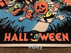 John Carpenter Halloween Michael Myers BlackLight Art Print Poster Mondo Movie