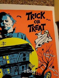 John Carpenter's Halloween Black Light Poster Michael myers Not Mondo