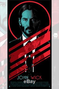 John Wick Keanu Reeves Rhys Cooper Poster Screen Print Blacklight 18x36 Mondo
