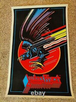 Judas Priest Blacklight Poster 1983 by funky enterprises #801. Iron Maiden