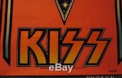 KISS 1976 M. H. Stein Felt Black Light Poster 28x 20 RARE Good Condition