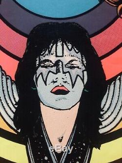 KISS Vintage Black Light Poster #15-332 1976 M. H. Stein Rare AUCOIN