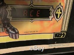 Kiss 1979 Original Aucoin Bally Blacklight Pinball Poster