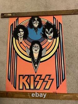 Kiss Aucoin Original Black Light Poster 28x20 Rare 1976 MHSTEIN