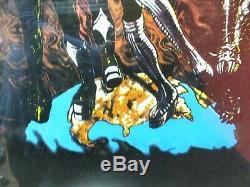 Kiss Destroyer American Flag Velvet Blacklight Poster 1998 NEVER HUNG ORIGINAL
