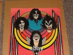 Kiss Rare Velvet Black Light Poster 1976 Velvet Aucoin Original Ace Frehley Gene