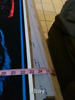 Kiss Vintage 1992 Blacklight Poster Peter Ace Paul Gene Winteland Rare
