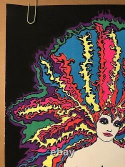 Kozmic Blues Woman Original Vintage Black Light Poster 1970 Retro Psychedelic