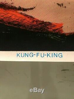 Kung-Fu King 950 Vintage Blacklight Poster 23x35 Bruce Lee Enter The Dragon DARA