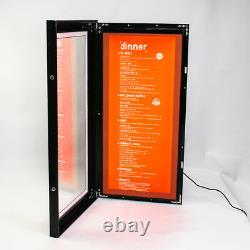 LED Outdoor Waterproof Slim Menu Poster Display Light Box 40cm80cm4cm Black