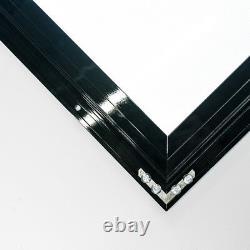 LED Outdoor Waterproof Slim Menu Poster Display Light Box 50cm100cm4cm Black