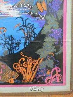 Land of Eternal Love Vintage Black Light Poster 1972 Inv#G4162