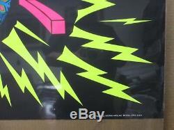 Large Vintage Black Light Poster 1970's PEACE Inv#G990