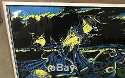 Large Vintage Black Light Poster 1970 the Storm
