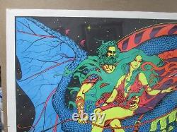 Large Vintage Black Light Poster 1971 Magic Dragon Inv#G1362