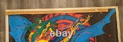 Large Vintage Black Light Poster 1971 Magic Dragon made in USA