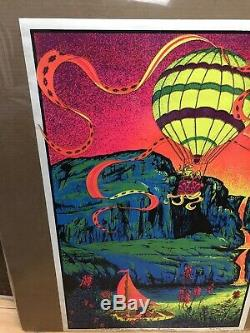 Large Vintage Black Light Poster 1971 Valley of Paradise