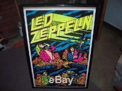 Led Zeppelin 23x35 Beautiful Flocked Blacklight Poster