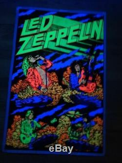 Led Zeppelin 23x35 Beautiful Flocked Blacklight Poster