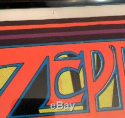Led Zeppelin Black Light Glow Poster Art Wall Decor Collectible Band Rock USA
