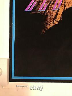Led Zeppelin Earth Rift Vintage Blacklight Poster