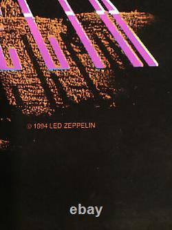 Led Zeppelin Earth Rift Vintage Rare Blacklight Poster