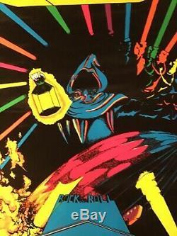 Led Zeppelin Lantern Rare Blacklight Poster