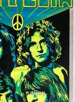 Led Zeppelin Original Vintage Blacklight Poster 1969 Music Pinup Beeghly UV
